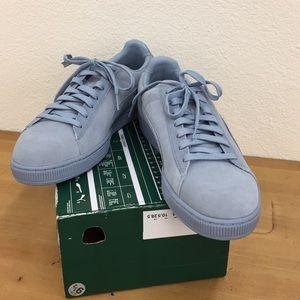 Puma Men's Suede Blue Fog shoes 111302
